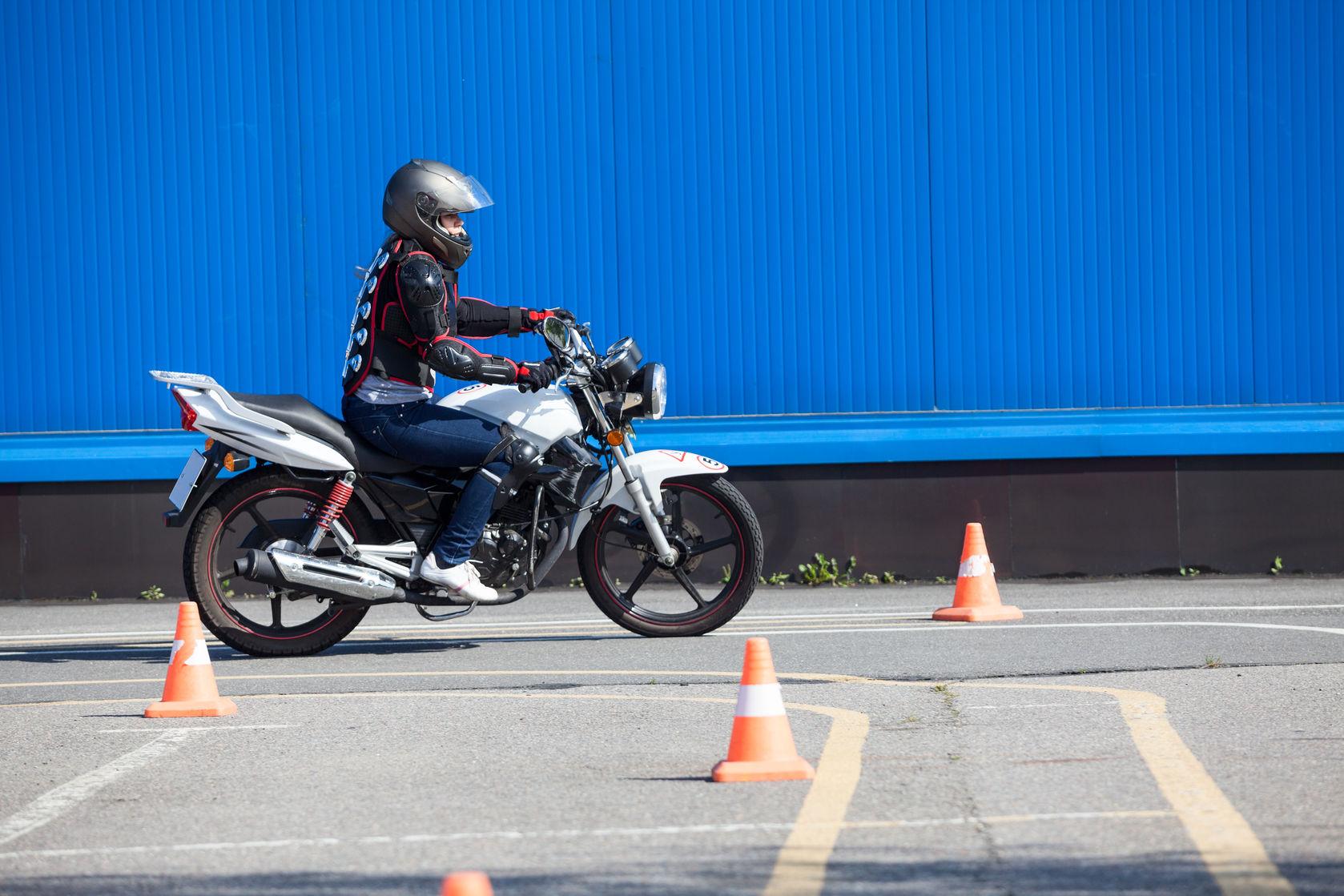 L'épreuve hors circulation Permis Moto